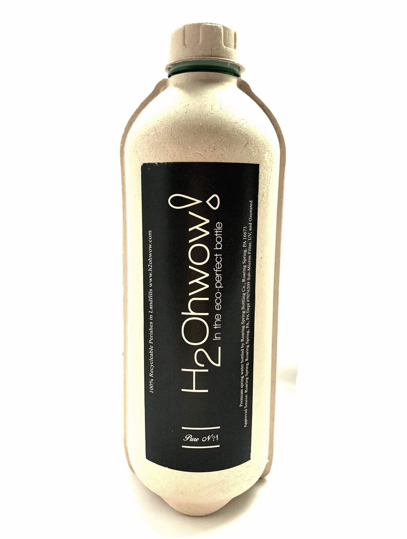 H₂Ohwow! by Libre Un. Great water in a perishable bottle. The eco-perfect way to drink bottled water on the go.